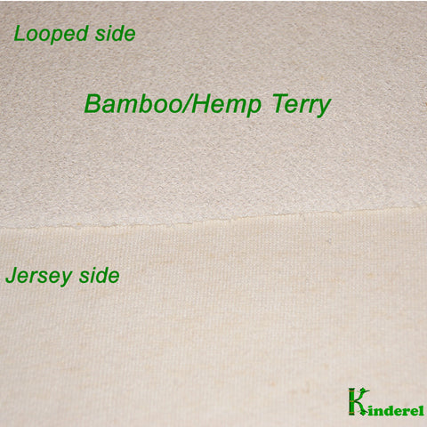 Hemp Bamboo Terry Knit Fabric by the Yard - Kinderel Bamboo Fabrics