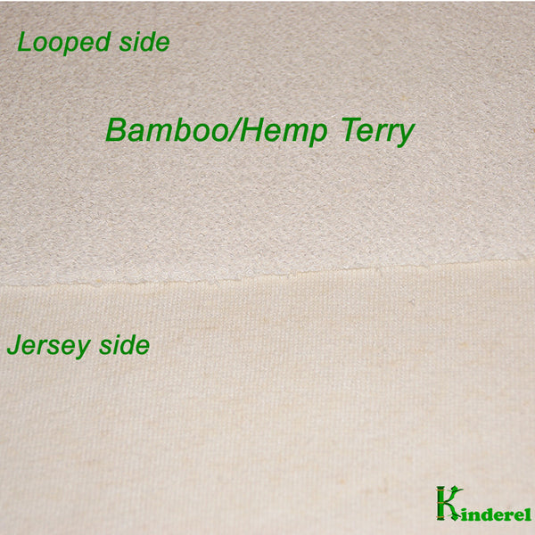 Hemp Bamboo Terry Fabric Rolls from $ 8.95/yard - Kinderel Bamboo Fabrics