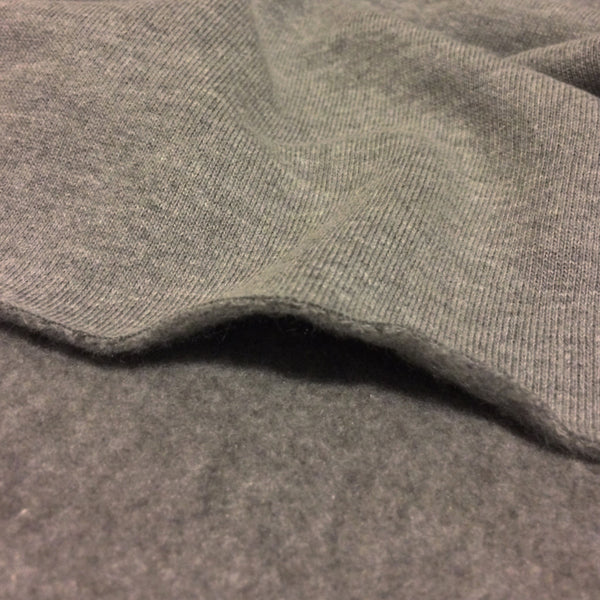 Organic Bamboo Charcoal Fleece Fabric - 350 GSM Tubular Knit Fabric