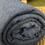 Bamboo Stretch French Terry, Heather Navy by the Yard or Wholesale - Kinderel Bamboo Fabrics
