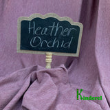 BAMBOO Stretch Jersey Fabric Heather Orchid - Kinderel Bamboo Fabrics