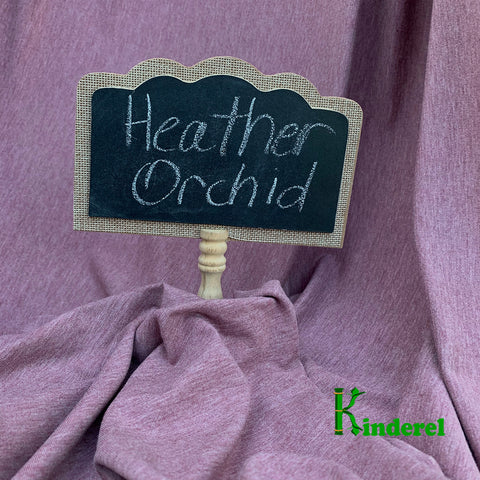 BAMBOO Stretch Jersey Fabric Heather Orchid by The Yard or Wholesale - Kinderel Bamboo Fabrics