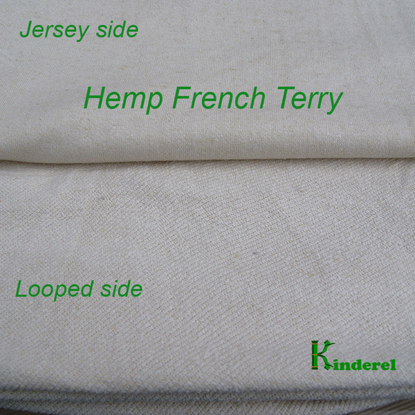 Hemp Organic Cotton Terry Fabric by the Yard - Kinderel Bamboo Fabrics