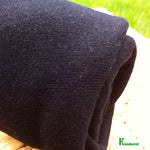 Hemp Organic Cotton Jersey Fabric - Black - by the Yard or Wholesale - Kinderel Bamboo Fabrics
