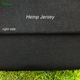 Hemp Organic Cotton Jersey Fabric - Black - Kinderel Bamboo Fabrics