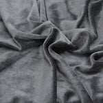 Black velour bamboo fabric OBV - Kinderel Bamboo Fabrics