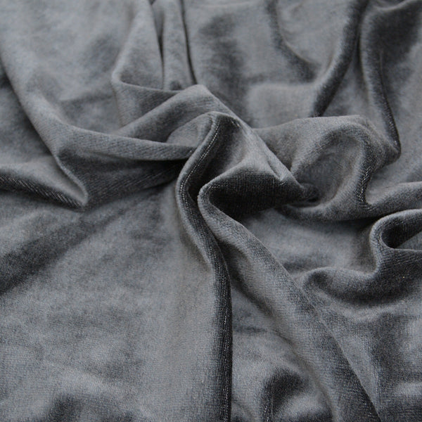 BAMBOO Velour Fabric OBV Black - Kinderel Bamboo Fabrics