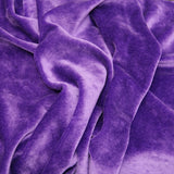 BAMBOO Velour Fabric OBV Purple - Kinderel Bamboo Fabrics
