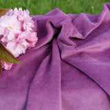 Organic Cotton Velour Fabric - Plum Bolt from $US 7.60/yard - Kinderel Bamboo Fabrics