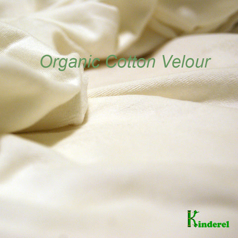 Organic Cotton Velour Fabric - Natural, OCV Wholesale Bolts from $7.60/yard - Kinderel Bamboo Fabrics