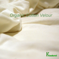 Organic Cotton Velour Fabric - Natural, OCV