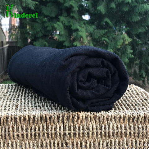 Black Bamboo Stretch French Terry Fabric by the Yard - Kinderel Bamboo Fabrics