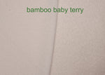 Bamboo Organic Cotton Baby Loop Terry Knit Fabric by the Yard - Kinderel Bamboo Fabrics