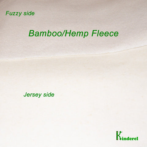 Bamboo Hemp Fleece Knit Fabric Natural Color by the Yard - Kinderel Bamboo Fabrics