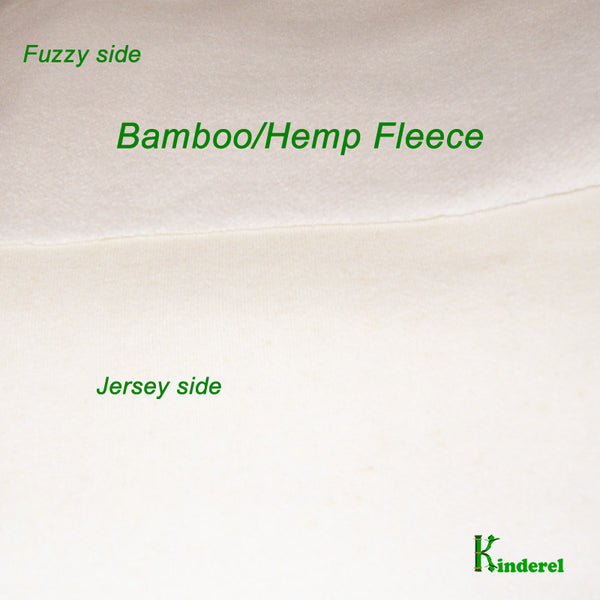 High Quality Bamboo Hemp Fleece Fabric Natural Color