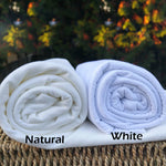 Bamboo Stretch French Terry, White, by the Yard or Wholesale