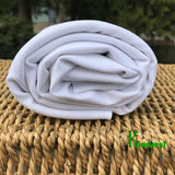 ChitoSante Poly Stretch Interlock White 300 GSM  Fabric by the Yard or Wholesale