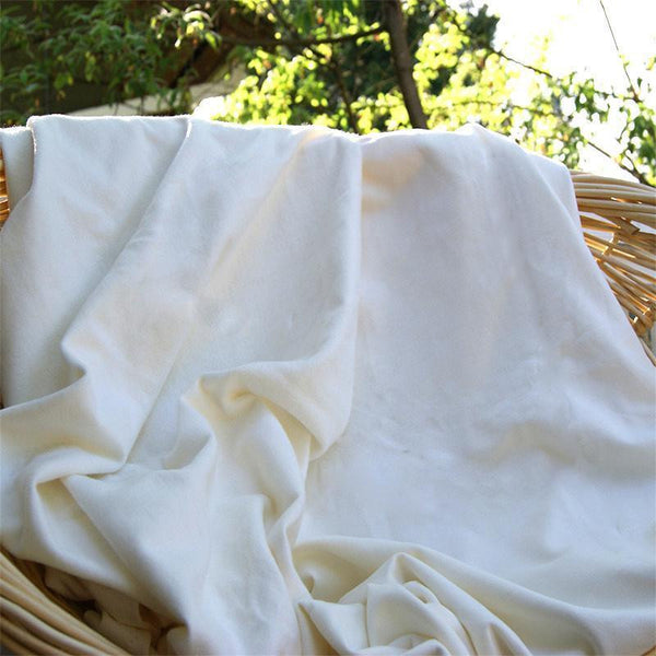 Organic Cotton Fleece Fabric - Natural - Kinderel Bamboo Fabrics