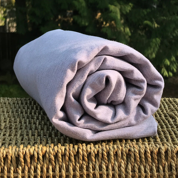 Bamboo Stretch Fleece, Heather Lavender - Kinderel Bamboo Fabrics