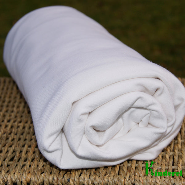 Quality Bamboo Organic Cotton French Terry Fabric Natural Color Roll $8.00/yard