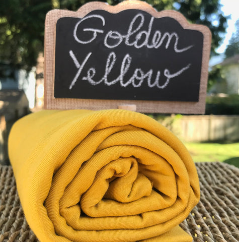 Bamboo Stretch French Terry, Golden Yellow, by the Yard or Wholesale