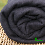Hemp Organic Cotton Fleece Fabric - Black for Sale by the Yard - Kinderel Bamboo Fabrics