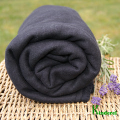 Hemp Fleece Fabric - Black
