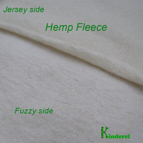 Hemp Organic Cotton Fleece Fabric by the Yard - Kinderel Bamboo Fabrics