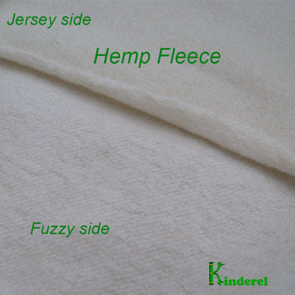 Hemp Organic Cotton Fleece Knit Fabric - Kinderel Bamboo Fabrics