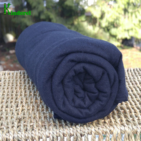Hemp Stretch Jersey Fabric Wholesale - Black - Kinderel Bamboo Fabrics