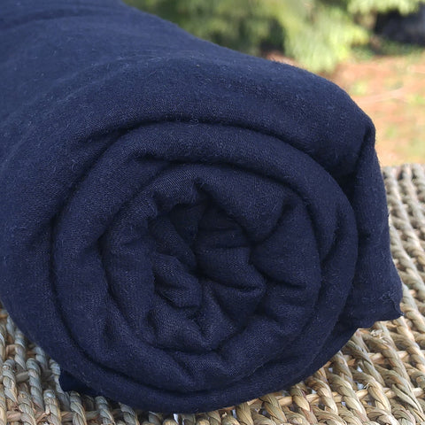 Black Bamboo Hemp Stretch Jersey Fabric by the Yard or Wholesale - Kinderel Bamboo Fabrics