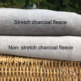 Stretch Bamboo Charcoal Fleece Fabric - 280 GSM Fabric by the Yard