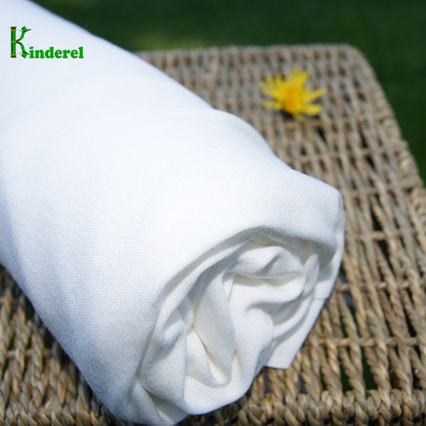 Bamboo Organic Cotton Interlock Knit Fabric Natural - Kinderel Bamboo Fabrics