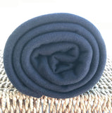 BAMBOO Organic Cotton Interlock Fabric Black 220 GSM Rolls from $7.12/yard - Kinderel Bamboo Fabrics