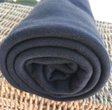 Bamboo Organic Cotton Interlock Fabric Black by the Yard - Kinderel Bamboo Fabrics