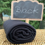 Black Bamboo Merino Wool Stretch French Terry fabric by the Yard - Kinderel Bamboo Fabrics