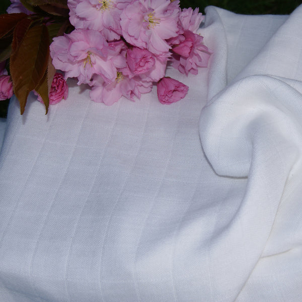 Bamboo Muslin (Swaddle) Natural Fabric REMNANT - Kinderel Bamboo Fabrics