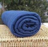 Bamboo Stretch French Terry Fabric - Navy - Kinderel Bamboo Fabrics