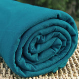 BAMBOO Stretch Jersey Fabric Teal Shaded Spruce by the Yard - Kinderel Bamboo Fabrics
