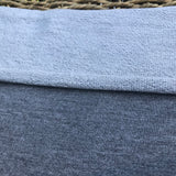 Bamboo Stretch French Terry Heather Grey / Charcoal Fabric by the Yard