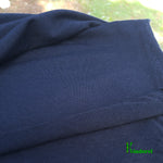Bamboo Merino Wool Stretch French Terry Fabric Black by the Yard and Wholesale ETA Apr 30th