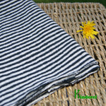 Hemp Jersey Fabric - Black & White Stripes by the Yard - Kinderel Bamboo Fabrics