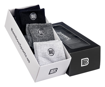 Premium Quarter Crew Socks Gift Box Men's Size 9-12