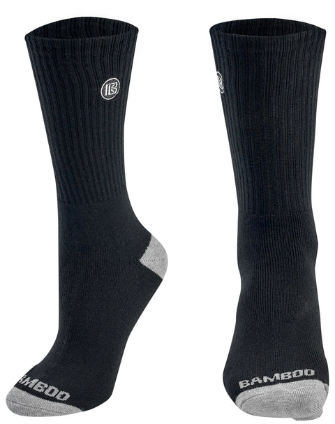 Premium Bamboo Mens Crew Socks Men's Sizes 9-12 (3 Pack)