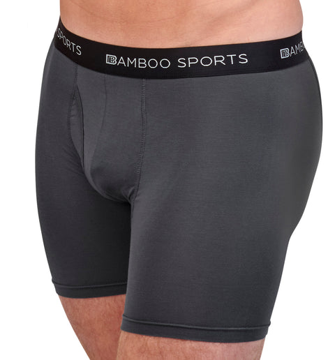 New! Bamboo Sports Mens Bamboo Boxer Briefs Underwear - Soft & Comfortable Fit 4 inch length