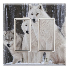 Load image into Gallery viewer, White Wolves Pack in Snow