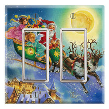 Load image into Gallery viewer, Santa Claus with Children Reindeer Moon