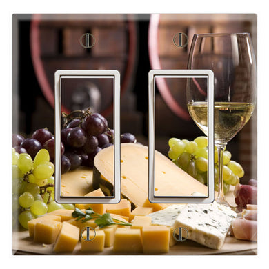 Kitchen Table Wine Cheese Wallpaper