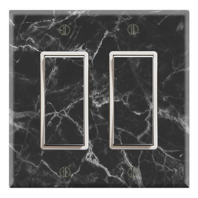 Black Marble Textures Background Print