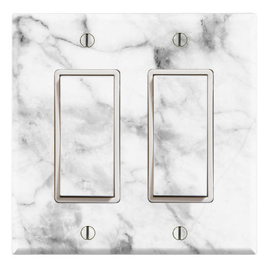 White Grey Marble Background Print